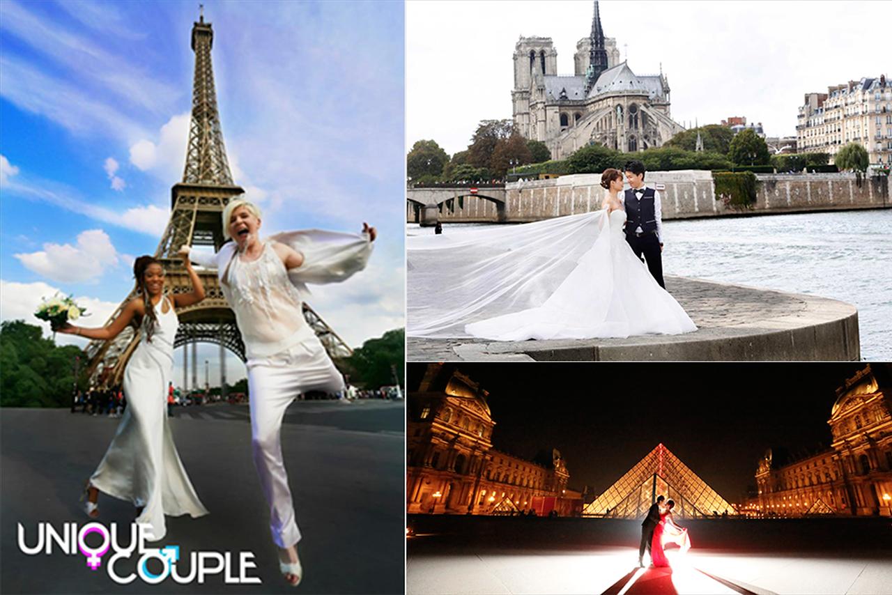 LGBT海外法國巴黎同志婚禮攝影